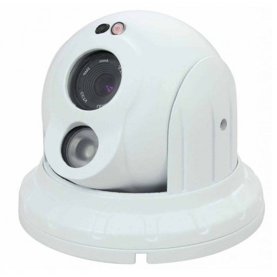 EVCN-3204 2MP 4MM SESLİ POE 1 ARRAY LED IP DOME KAMERA